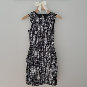 H&M Black & White Mini Dress